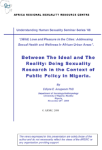 Between The Ideal and The Reality: Doing Sexuality Research in the Context of Public Policy in Nigeria